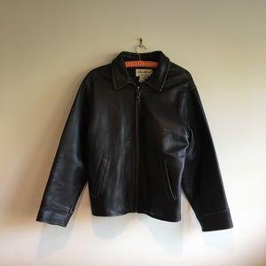 VINTAGE Genuine Leather Eddie Bauer Jacket